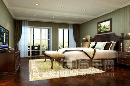 臥室床頭背景墻壁紙效果圖