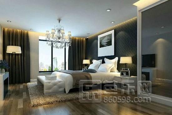 臥室床頭背景墻壁紙效果圖2